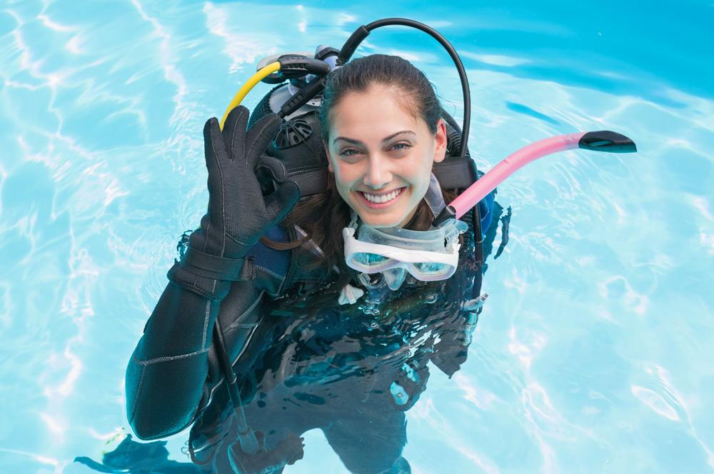 Betreuung durch unsere Dive Guides über und unter Wasser